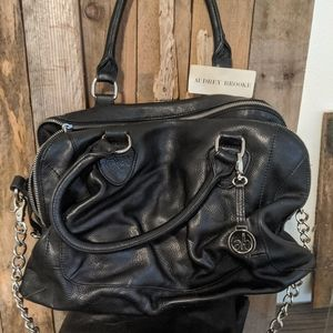 Audrey Brooke Leather Satchel